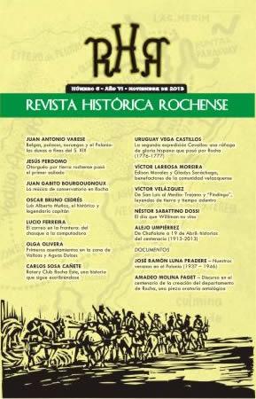 Tapa de la Revista Histórica Rochense Nº 6