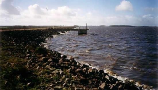 Vista actual de la Represa en su máxima capacidad de embalse