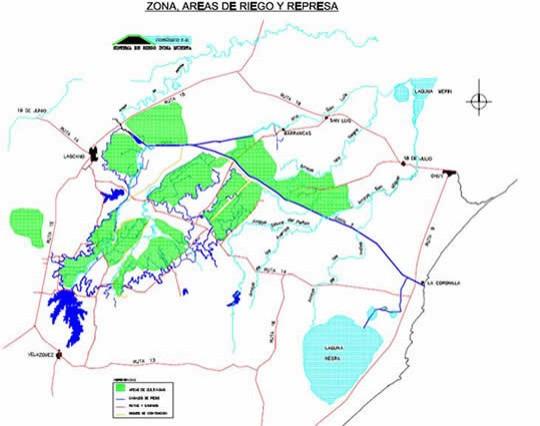 La represa y su área de influencia