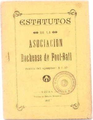 Primer Estatuto dela Asociación Rochensede Foot-ball (1917)
