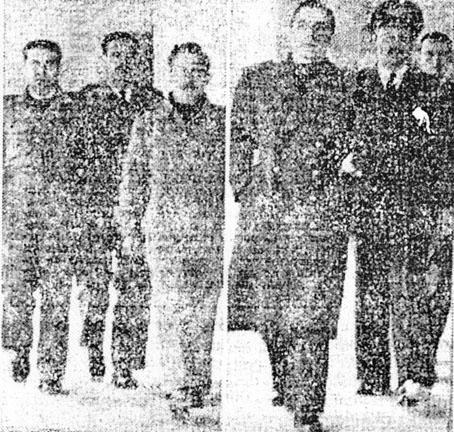 Se decreta la internación:Enrique Smith, Guillermo Forny, Juan F. Giachetti y Juan McColl acompañados de un oficial uruguayo. Destino de todos ellos: Rocha.