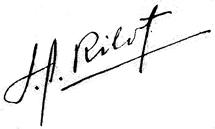 Firma de José A. Ribot