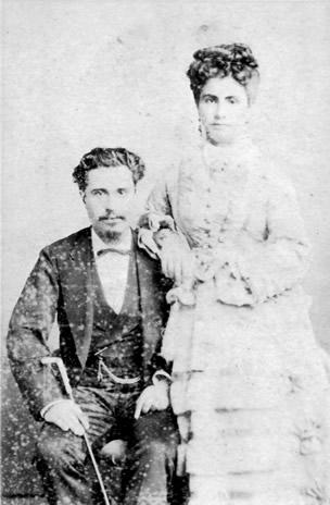 El matrimonio León Ventura y Flora Rodriguez