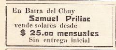 Publicidad inmobiliaria de Samuel Priliac