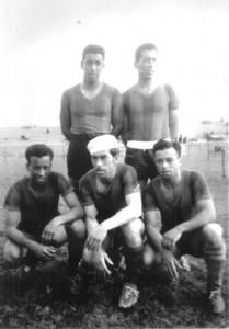 Los cinco hermanos Nogueira con la camiseta de Rampla Juniors F.C.