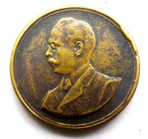 Medalla conmemorativa acuñada a la espera de la visita de Williman a la Asociación Rural de Rocha
