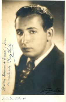 """Hugo Balzo, célebre pianista uruguayo que actuara en el Teatro """"25 de Mayo"""""""