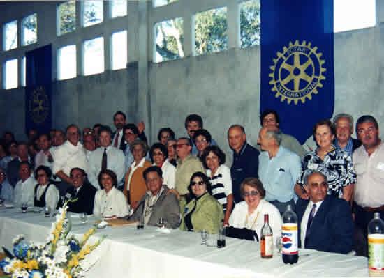 Reunión de camaradería de la Rueda de Rocha Este, con motivo de la Conferencia realizada en La Paloma, por el Gobernador Dr. Juan Pedro Falconi, en 1998
