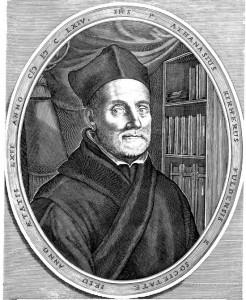 Científico y jesuita alemán Athanasius Kircher, inventor de la linterna mágica.