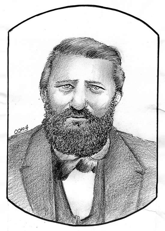 Cnel Bernardino Olid, por Humerto Ochoa, sobre antigua fotografía