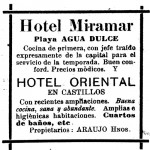 Hotel Miramar de Agua Dulce y Hotel Oriental de Castillos (1920)