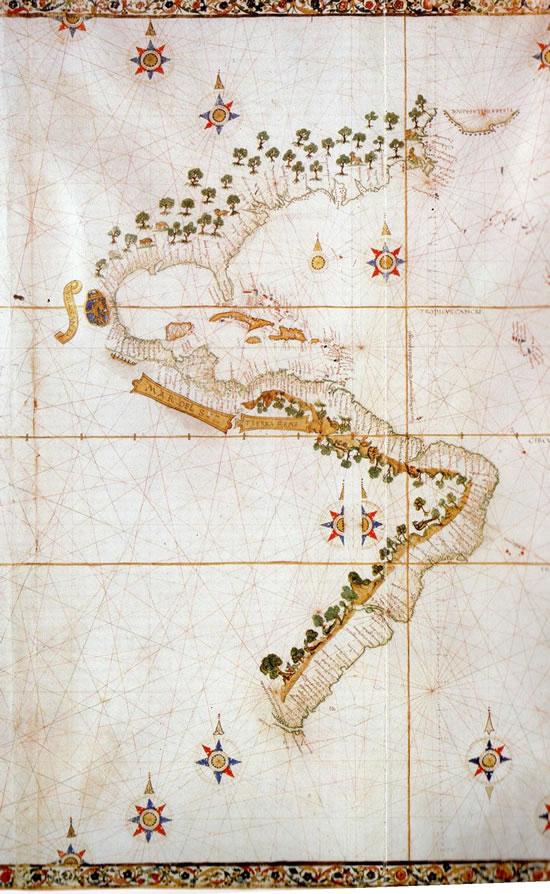 Mapa de Nuño de Toreno, 1525