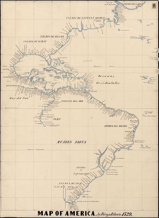 Mapa de Diego Ribeiro, 1529