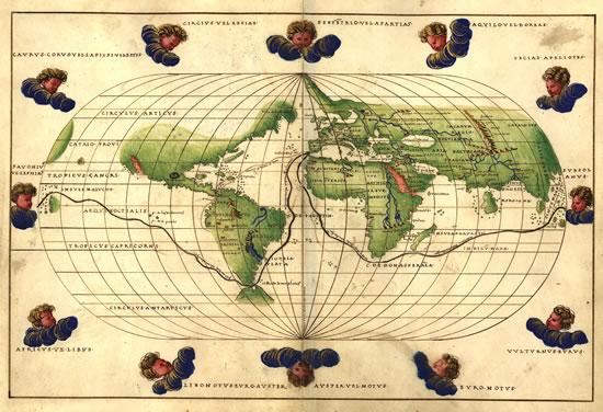 Mapa de Battista Agnese, 1539