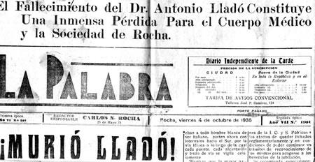 Portada de La Palabra, 4 de Octubre de 1935