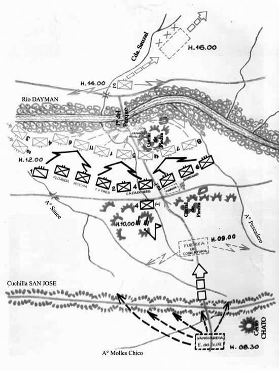 """Plano de la Batalla de """"Paso del Parque"""""""