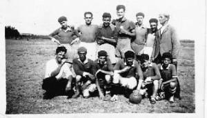 Carlos Sosa en el equipo de  fútbol de Garzón
