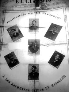 """Portada de """"El Civismo"""" del 1 de setiembre de 1905 Nº 1 (Pág. 202), al conmemorarse el primer año de Masoller"""