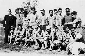 Carlos Sosa con la Selección de Rocha (1946)
