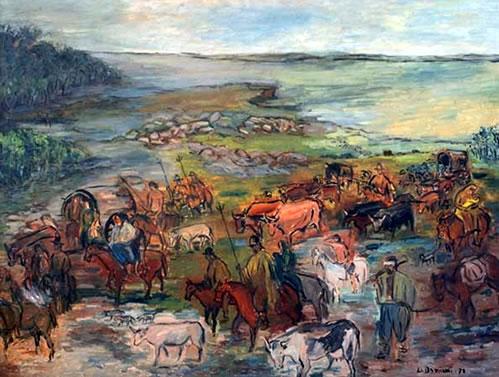 El Éxodo del Pueblo Oriental por Melchor Méndez Magariños