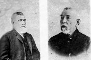Ramón Saavedra y Gabino Ubal, presidente y vice de la primera Comisión Auxiliar de Castillos