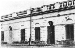 Residencia de Dn. Pedro Amonte, sede de Correos y Telégrafo y edificio de la Comisión Auxiliar en los comienzos del siglo XX.