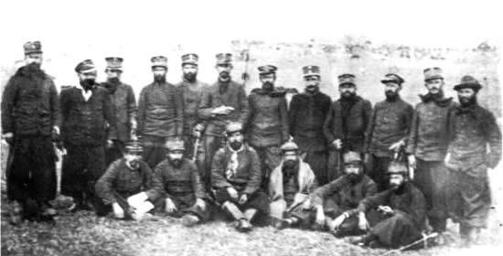Mayor Dubra y oficiales del 4to. de Cazadores luego de Tupambaé (sitio web del Batallón No. 4)