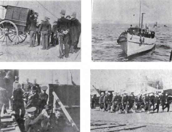El traslado de Páez y González al puerto y su llegada a Punta del Este