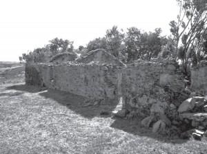 Tapera que fue la casa donde se consumó el homicidio múltiple de  Adolfo Silveira, su esposa y peones.