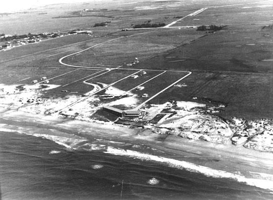 Vista aérea zona Balneario La Coronilla (1950)
