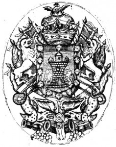 """Escudo de Armas del Virrey Nicolás de Arredondo (Tomado de Alejandro Pomar en Página Web """"Heráldica en la Argentina"""")"""