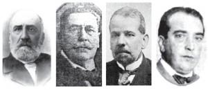 José Pedro José, Espalter Ramírez,  Francisco J. Ros y Alberto Demichelli