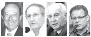 Adauto Puñales, Irineu Riet Correa, Artigas Barrios y Anibal Pereyra Huelmo, los intendentes post dictadura.