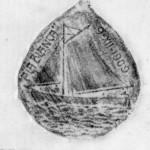 Copia de la medalla que recuerda el episodio realizada con grafito