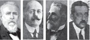 Hermógenes López Formoso,  Héctor Lorenzo y Losada, Francisto H. López y Ernesto F. Pérez