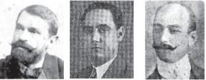 Pedro Figari, Arístides Lezama y Gregorio Anza