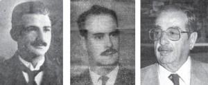 Víctor J. Barrios,  Jaime López Barrera y  Washington García Rijo