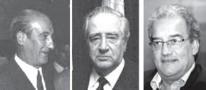 Ernesto Amorín Larrañaga, Carlos Julio Pereyra y José Carlos Cardoso