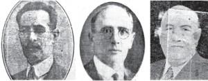 Amaranto Torres, Miguel Dinegri Costa y Medardo Silvera