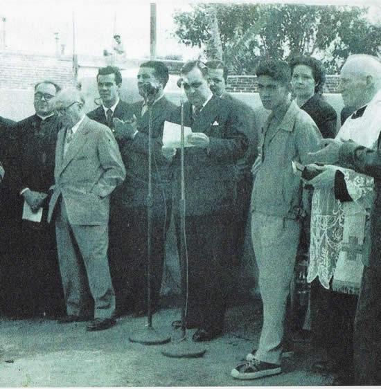 El Presidente de la Comisión Popular Pro Escuela Industrial Sr. Carlos Ma. Rubio