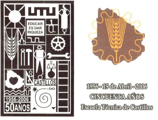 Tarjeta conmemorativa del 50ª aniversario. Diseño del autor