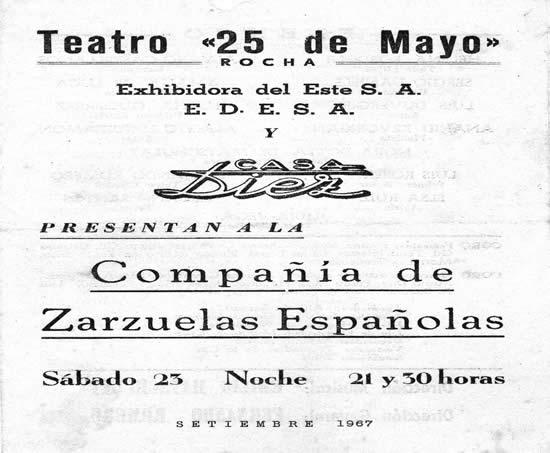 """Festejos de los 50 años del comercio con la presentación de una compañía  de zarzuelas española en el Teatro """"25 de Mayo"""""""