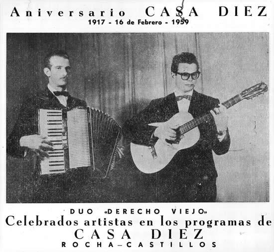 """Dúo Derecho Viejo, artistas de """"Casa Díez"""""""
