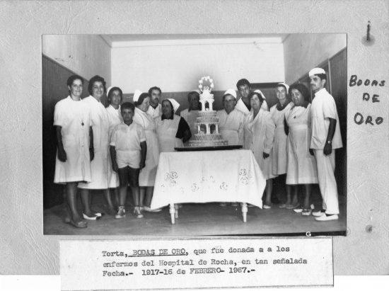 "Bodas de Oro de ""Casa Díez"": torta que fue donada a enfermos del Hospital de Rocha"