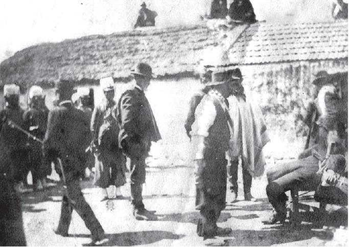 Foto tomada instantes antes del fusilamiento
